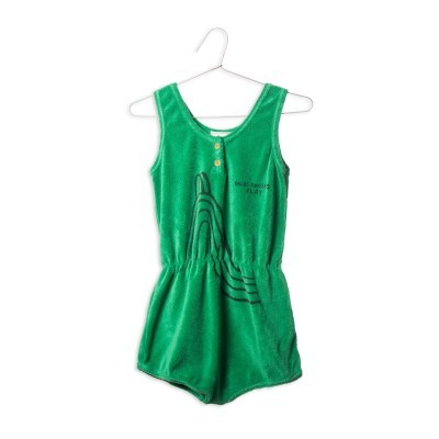 Green Terry Playsuit - Slide