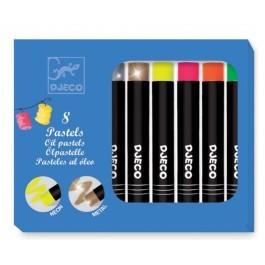 Σετ με 8 λαδοπαστέλ χρώματα - Neon & Pop