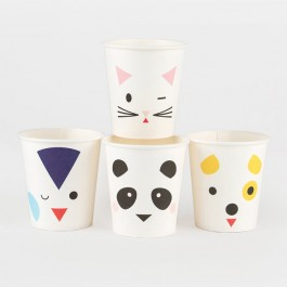 Paper Cups - Mini Animals