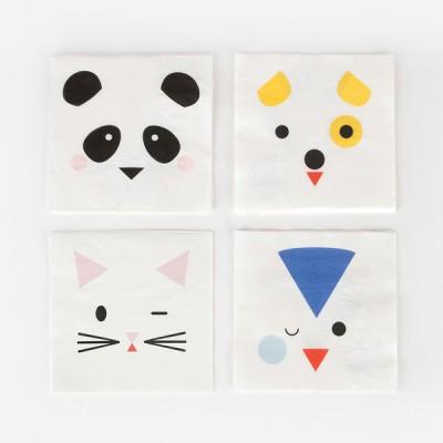 Small Napkins- Mini Animals