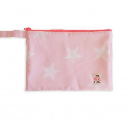 Waterproof Bag Medium - Light Pink with Stars