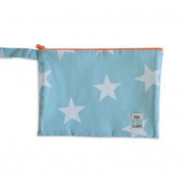 Waterproof Bag Medium - Light Blue with Stars