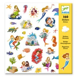 Set of 160 stickers - Mermaids