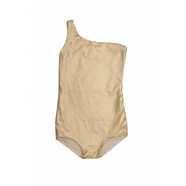 Assymetric Bathing Suit - Gold