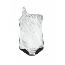 Assymetric Bathing Suit - Silver