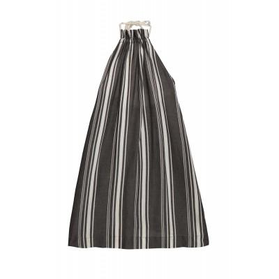 Tuareg Apron Dress - Dark Stripes