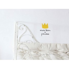 Wall Decal - More than a princess