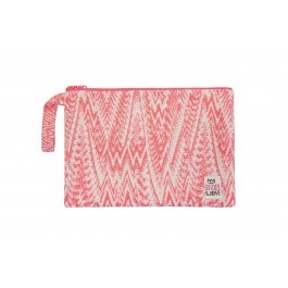 Waterproof Bag Medium - Embroidered Pink