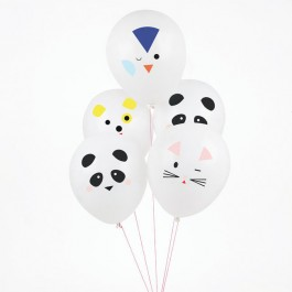 Set of 5 Printed Balloons - Mini Animals
