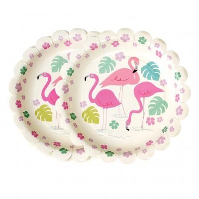 Paper Plates - Flamingο Bay