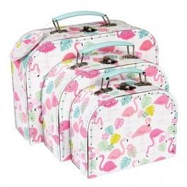 Σετ με 3 βαλίτσες - Flamingo Bay Design