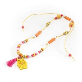 Necklace Djeco - Yellow Owl