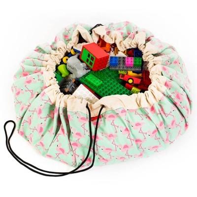 Τσάντα αποθήκευσης παιχνιδιών 2 σε 1- Flamingo Limited