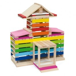 Set of 350 wooden blocks - Creating Blocks