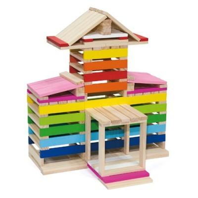 Σετ με 350 ξύλινα τουβλάκια - Creating Blocks