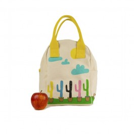 Eco Zipper Lunch Bag - Cactus