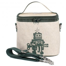 Small Cooler Bag- Grey Robot
