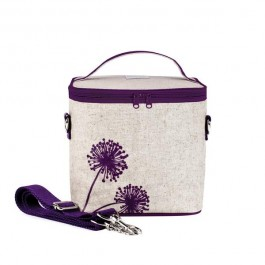 Small Cooler Bag- Purple Dandelion