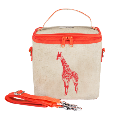 Ισοθερμική τσάντα φαγητού - Neon Orange Giraffe