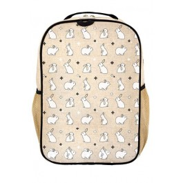 School Backpack- Bunny Tiles