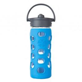Ocean Glass Bottle with Straw Cap - 350ml