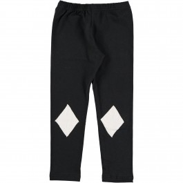 Leggings Black - White Patch