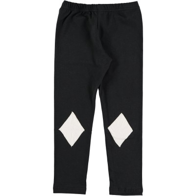 Leggings Black - White Patch
