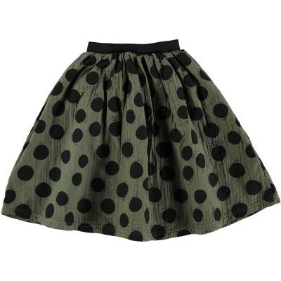 Mid Length Skirt - Black Dots