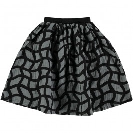 Mid Length Skirt - Grid