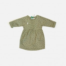 Dress - Dash Print Khaki