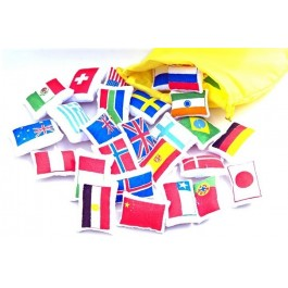 Kit with flags from the world