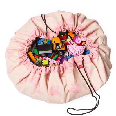 Τσάντα αποθήκευσης παιχνιδιών 2 σε 1- Pink Elephant