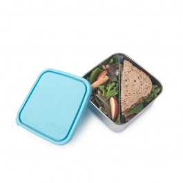 Large Rectangle Container with divider - Sky