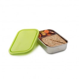 Divided Rectangle Container - Lime 740ml