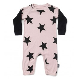 Playsuit with Stars - Powder Pink
