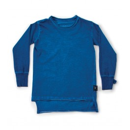 2 lengths T-Shirt - Dirty Blue