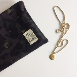 Waterproof Bag Woven - Army style in Gold