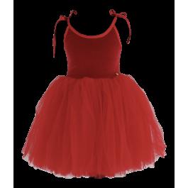 Βελούδινο Φόρεμα Tutu Sabrina - Κόκκινο