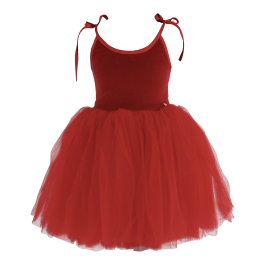 Velvet Tutu Ballet Dress Sabrina - Red