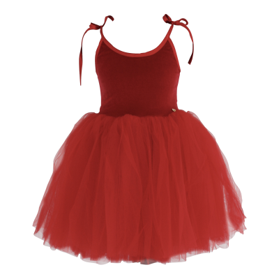 92b1dada7d061 Velvet Tutu Ballet Dress Sabrina - Red - Alice on board