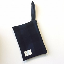 Waterproof Bag Woven - Blue Tartan