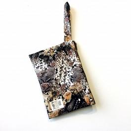 Waterproof Bag Woven - Multi Brown Black