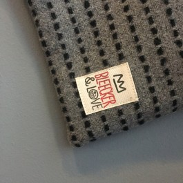 Waterproof Bag Woven - Grey and Black Wool
