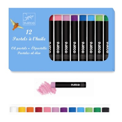 Σετ με 12 λαδοπαστέλ χρώματα - Κλασικά