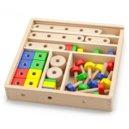 Wooden Construction Set - 51 pcs
