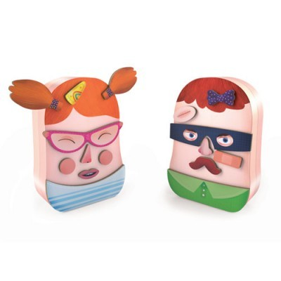 Wooden Funny Faces Magnetics - InZeBox Potraito
