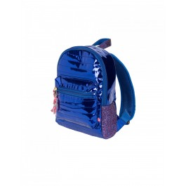Metallic Back Pack - Royal Blue
