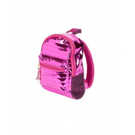 Metallic Back Pack - Super Pink
