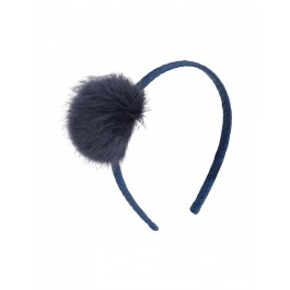 Galia Headband - Pom Pom Blue