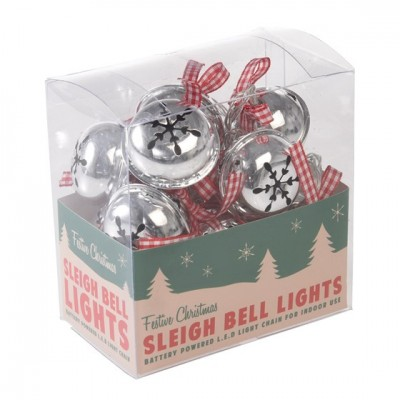 Χριστουγεννιάτικα Γιρλάντα με Φώτα - Κουδουνάκια
